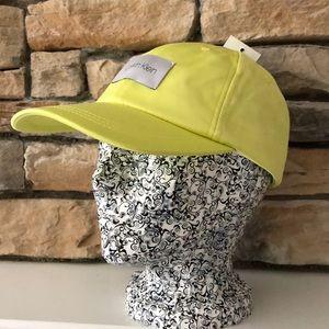 NWT Calvin Klein Lime Baseball Cap Hat